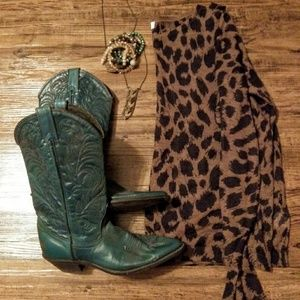 LOFT cheetah print long sleeve blouse